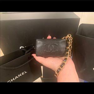 Chanel Caviar Classic Key/Card wristlet